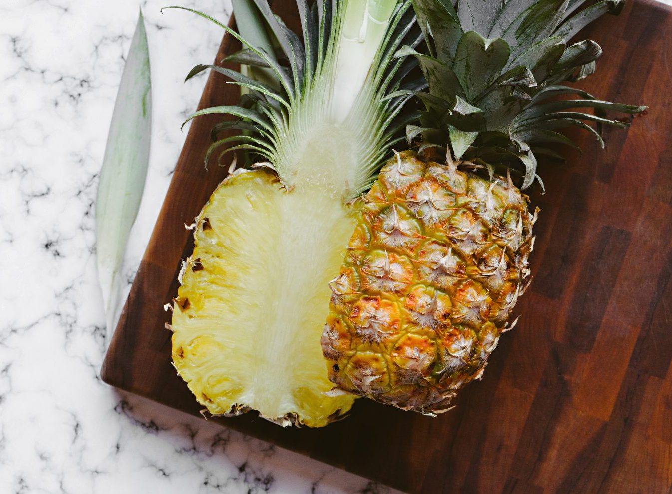 a pineapple sliced the wrong way