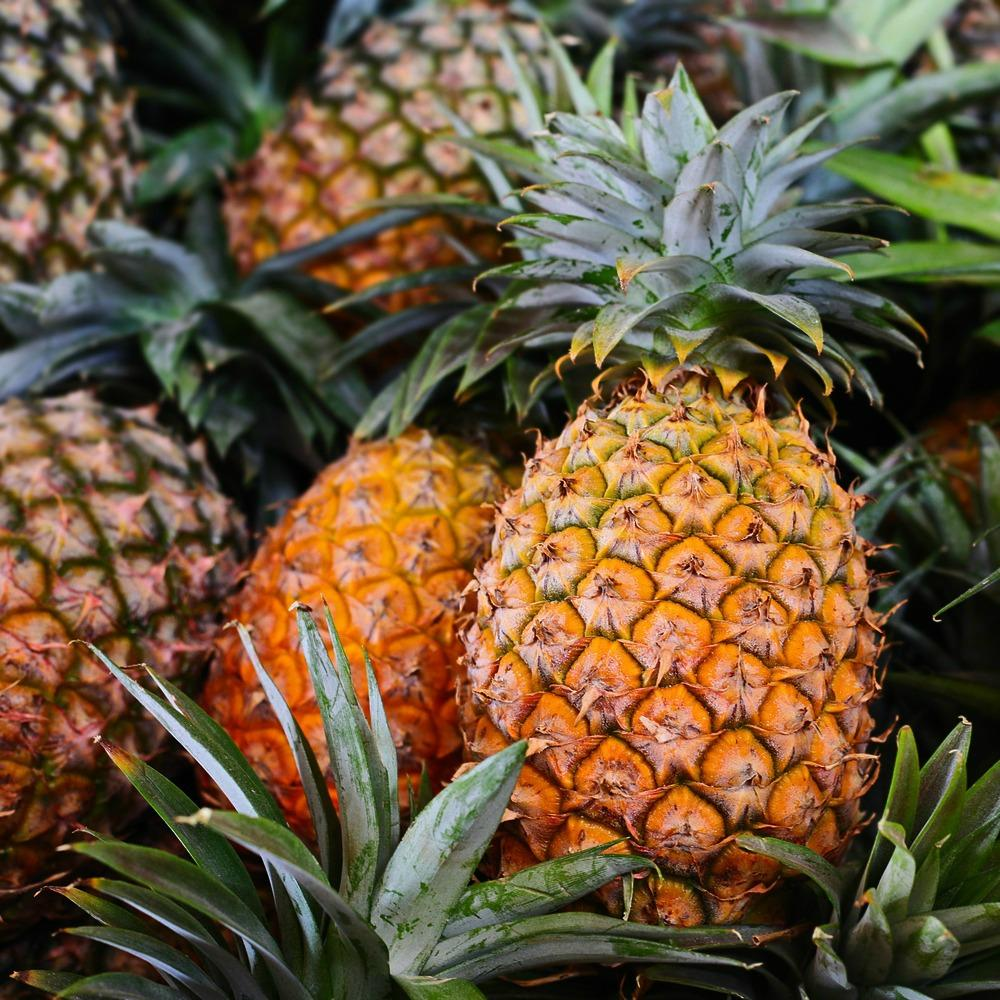 A ripe golden pineapple