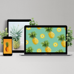 pineapple wallpapers on different devices mockup