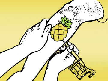 pineapple tattoo illustration