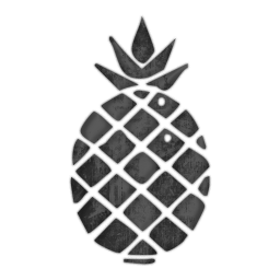 pineapple clipart black and white minimal