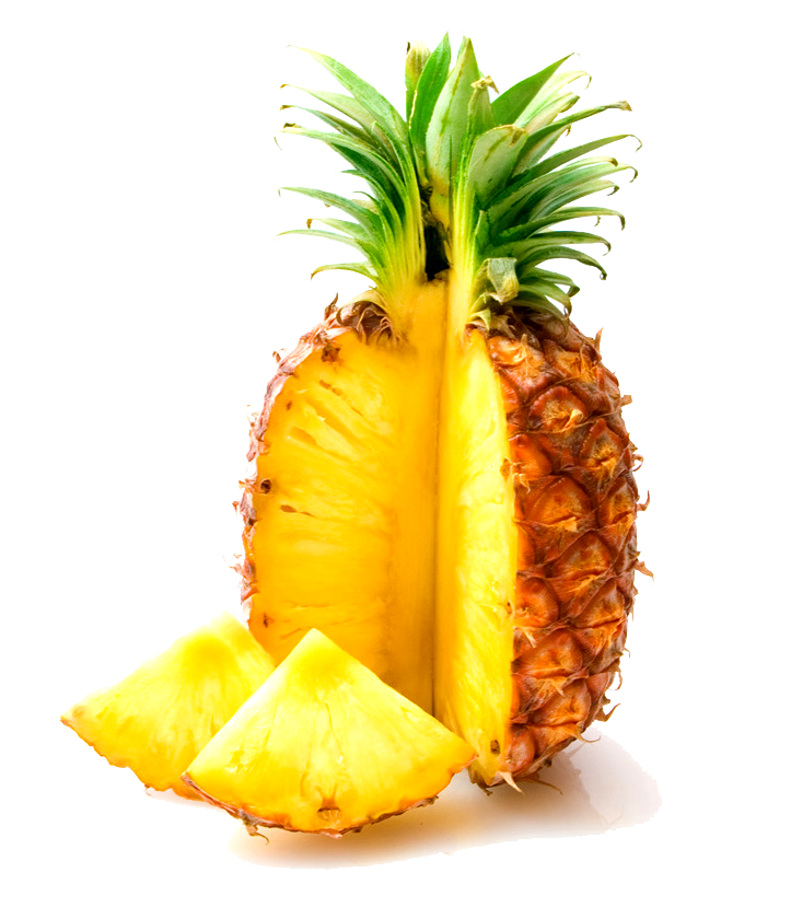 real pineapple clipart cutout